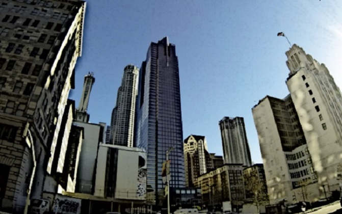 An urban city landscape