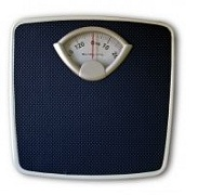 A weight scale.