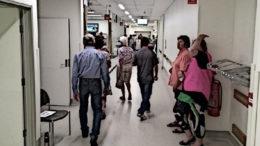 A hospital emergency room.